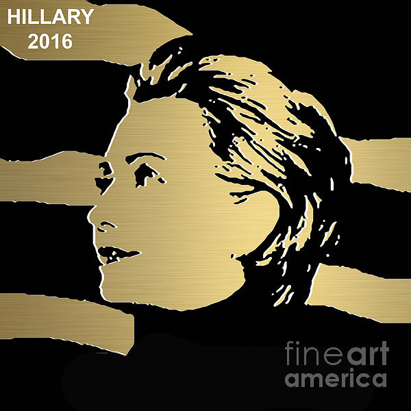 Hillary Clinton Gold Series Print by Marvin Blaine