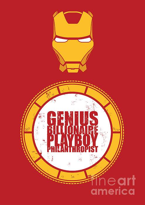 Iron Man Print by Caio Caldas