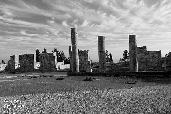 Kourion-temple Of Apollo Print by Augusta Stylianou