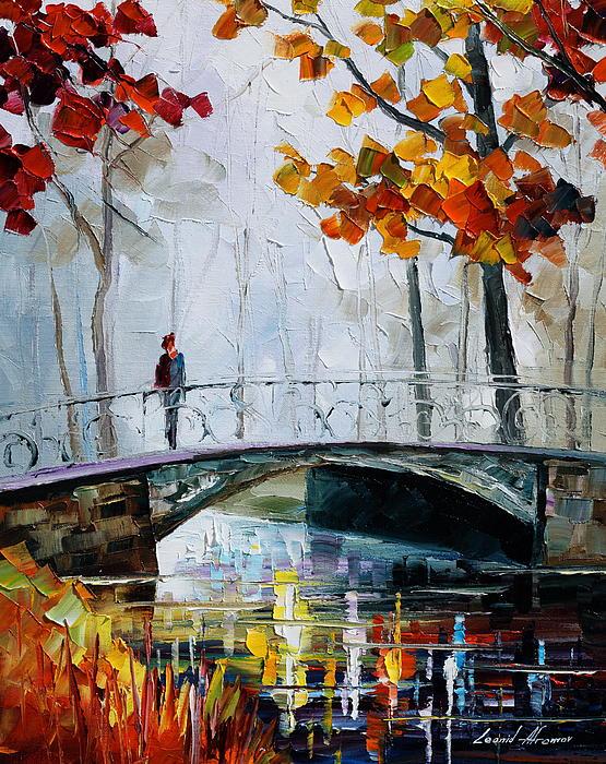 Little Bridge Print by Leonid Afremov