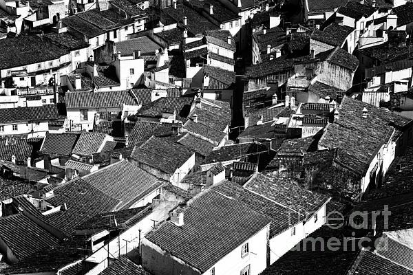 Medieval Town Rooftops Print by Jose Elias - Sofia Pereira