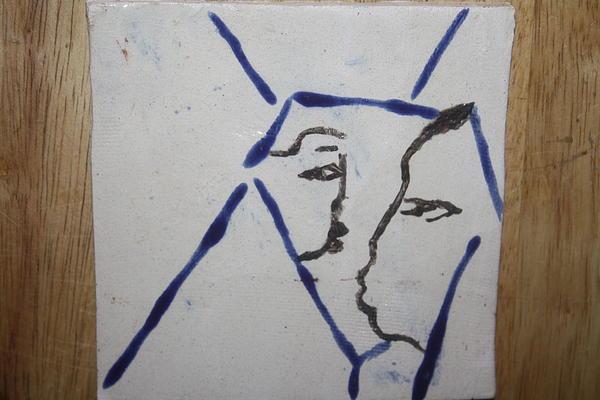 Michelle - Tile Print by Gloria Ssali