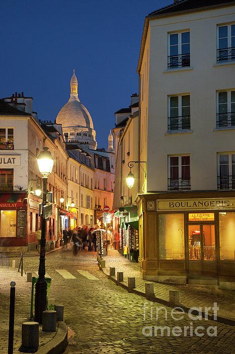 Montmartre Twilight Print by Brian Jannsen