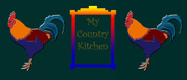My Country Kitchen Sign Print by Kate Farrant