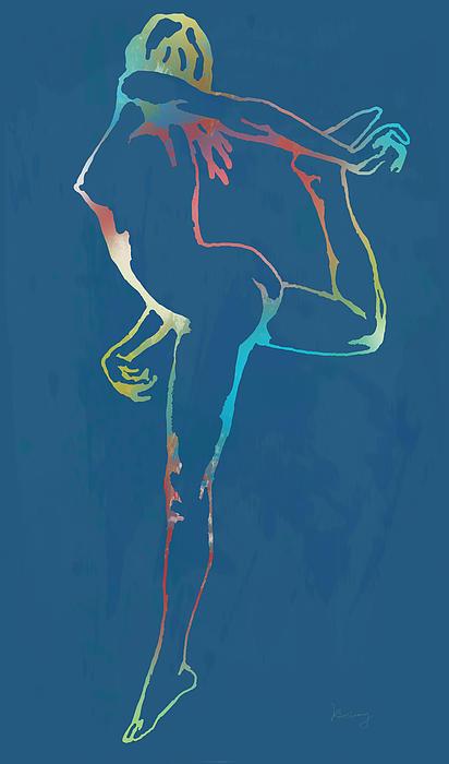 Nude Dancing Pop Stylised Art Poster Print by Kim Wang
