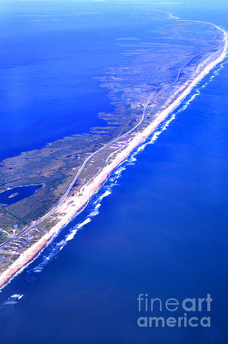 Outer Banks Aerial Print by Thomas R Fletcher