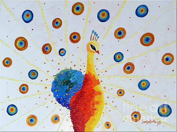 Peacock Print by Denisa Laura Doltu