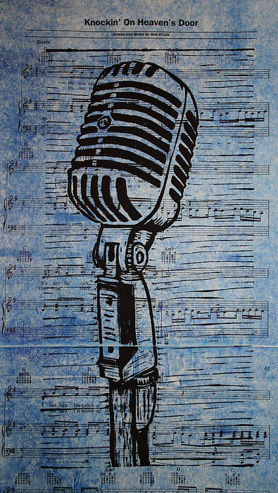 Shure 55s On Music Print by William Cauthern
