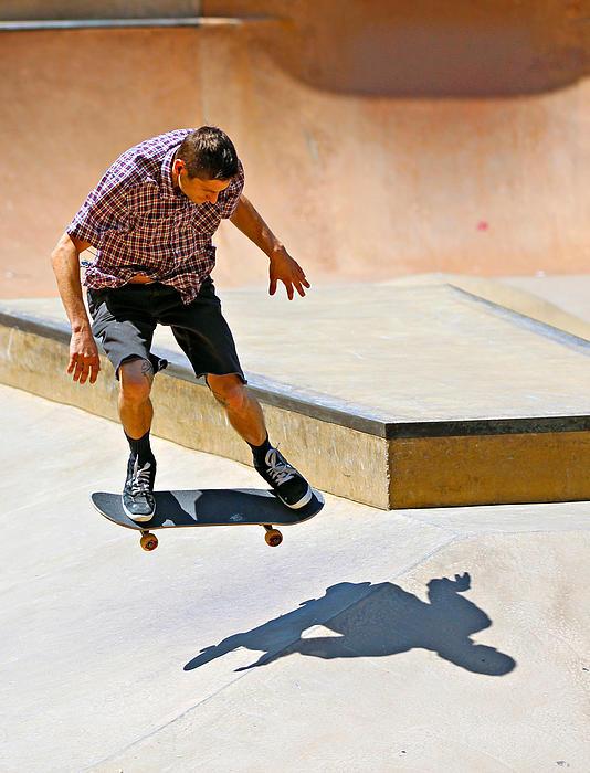 Skateboarding Print by Paul Fell