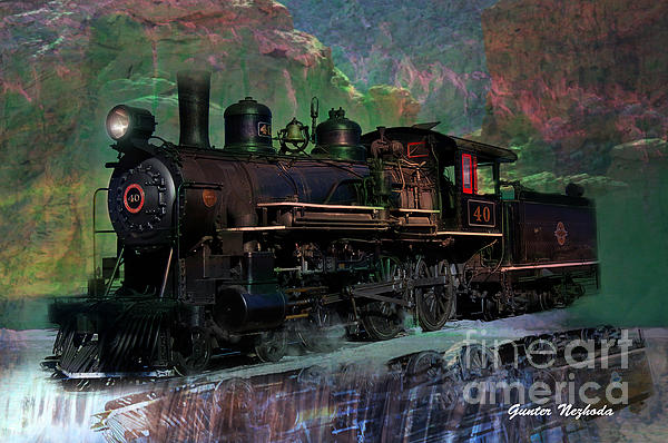 Steam Locomotive Print by Gunter Nezhoda