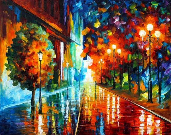 Street Of Hope Print by Leonid Afremov