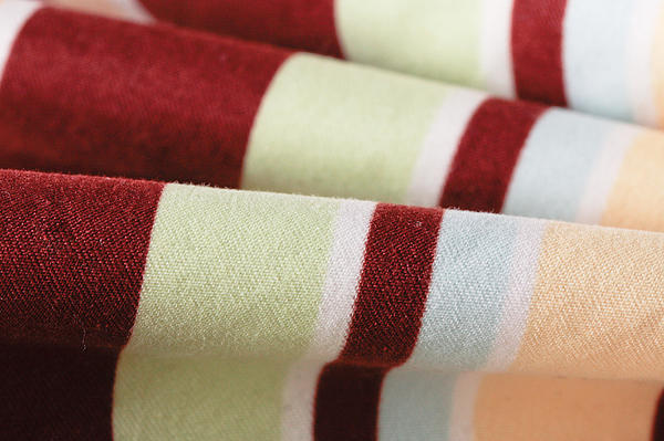 Striped Material Print by Tom Gowanlock