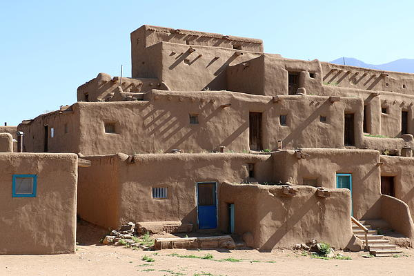 Taos Pueblo Print by Christiane Schulze Art And Photography