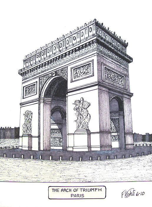 The Arch Of Triumph Print by Frederic Kohli