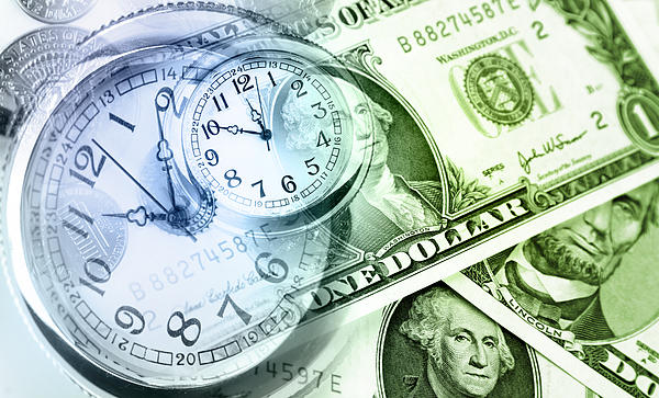 Time Is Money Print by Les Cunliffe