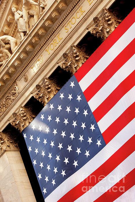 Wall Street Flag Print by Brian Jannsen