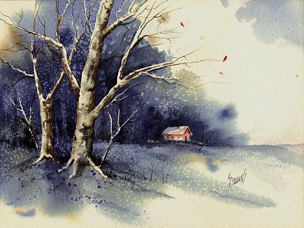 Winter Tree Print by Sam Sidders
