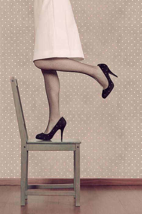 Woman On Chair Print by Joana Kruse