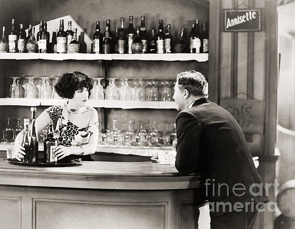 Silent Film Still: Drinking Print by Granger