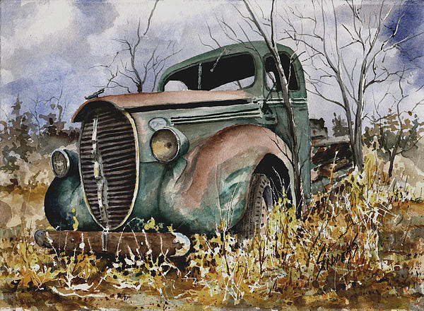39 Ford Truck Print by Sam Sidders