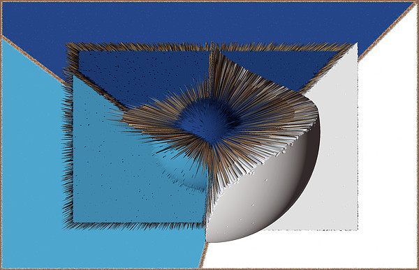 3d Abstract 19 Print by Angelina Vick