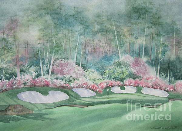 Augusta National 13th Hole Print by Deborah Ronglien