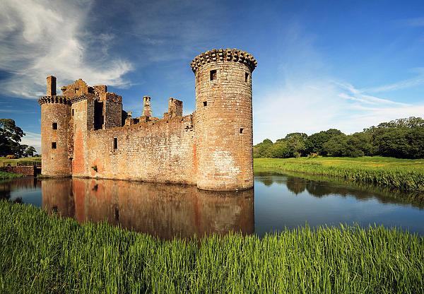 Caerlaverock Castle Print by Grant Glendinning