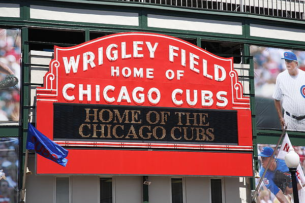 Chicago Cubs - Wrigley Field Print by Frank Romeo