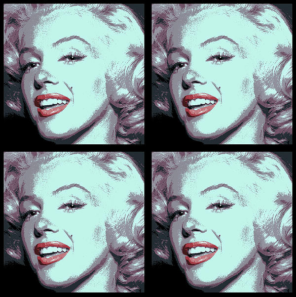 4 Frame Marilyn Pop Art Print by Daniel Hagerman