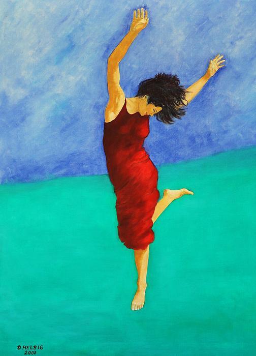 Jump Of Joy Print by Dagmar Helbig