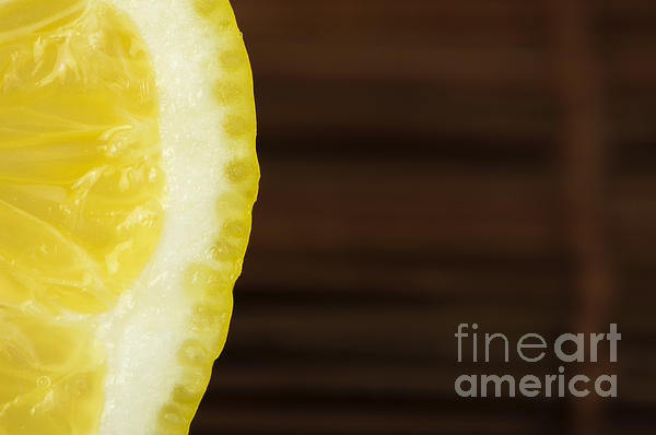 Lemon Close Up Print by Deyan Georgiev