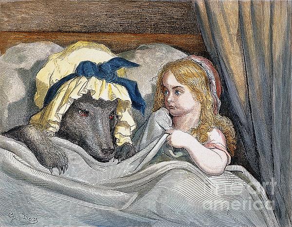 Little Red Riding Hood Print by Granger