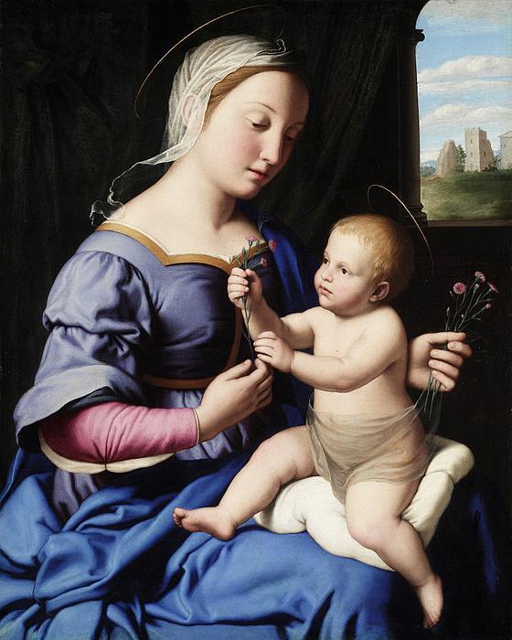 Madonna And Child Print by Il Sassoferrato