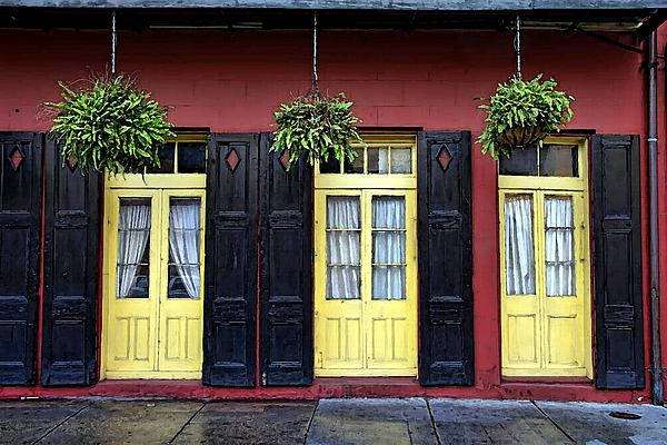 New Orleans French Quarter Shutters Doors Colors Louisiana Artwork By Olde Time Mercantile