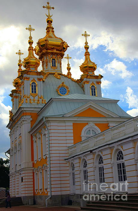 Peterhof Palace Russia Print by Sophie Vigneault