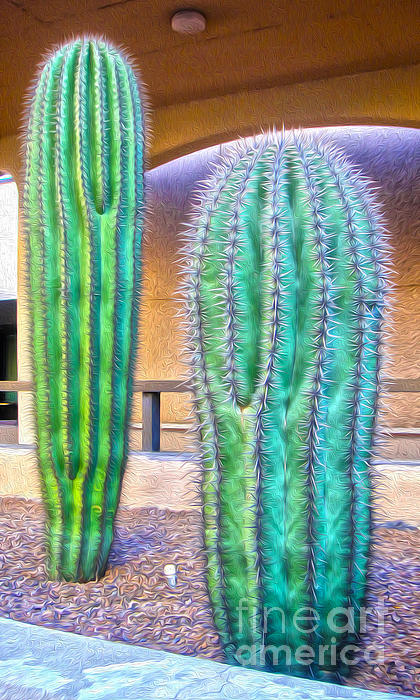 Tucson Arizona Cactus Print by Gregory Dyer