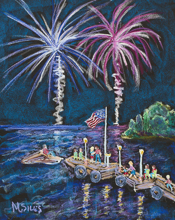 4th Of July - Baileys Harbor Print by Madonna Siles