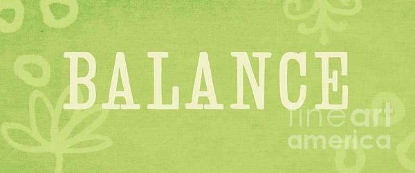 Balance Print by Linda Woods