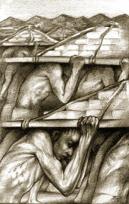 Biblical Illustration Print by Alex Tavshunsky