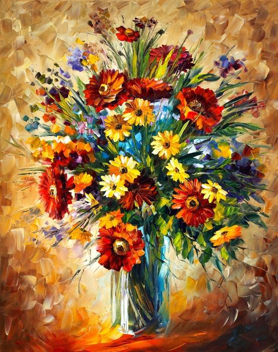 Magic Flowers Print by Leonid Afremov