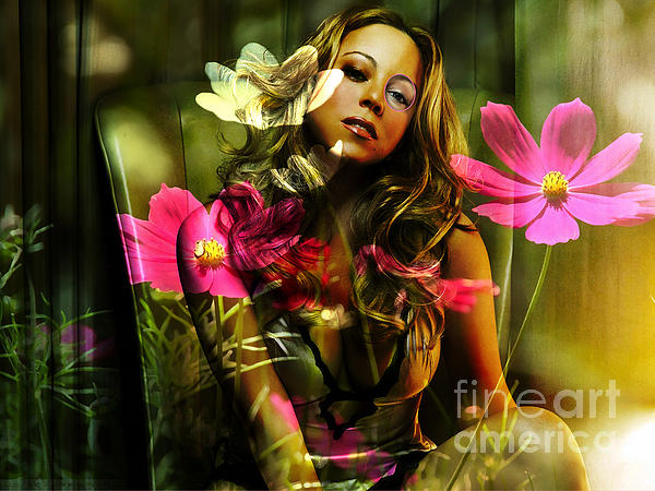 Mariah Carey Print by Marvin Blaine