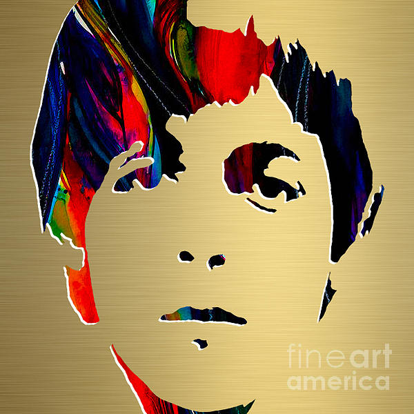 Paul Mccartney Gold Series Print by Marvin Blaine