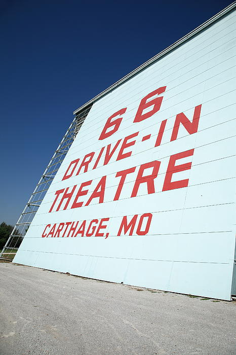 Route 66 Drive-in Theatre Print by Frank Romeo