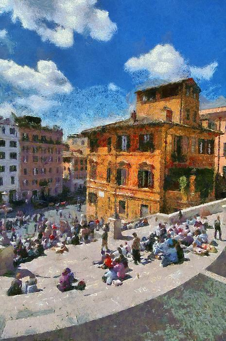Spanish Steps At Piazza Di Spagna Print by George Atsametakis