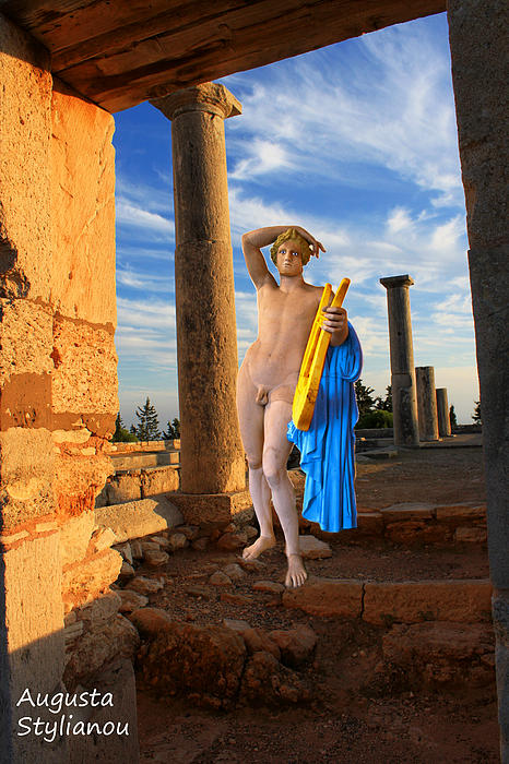 Temple Of Apollo Print by Augusta Stylianou