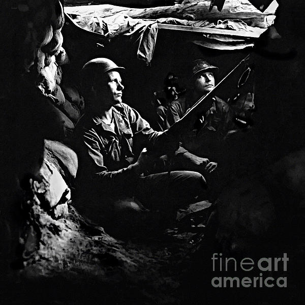 Bob and Nadine Johnston - 5th RCT Tunnels 40 yds from Chinese Communists