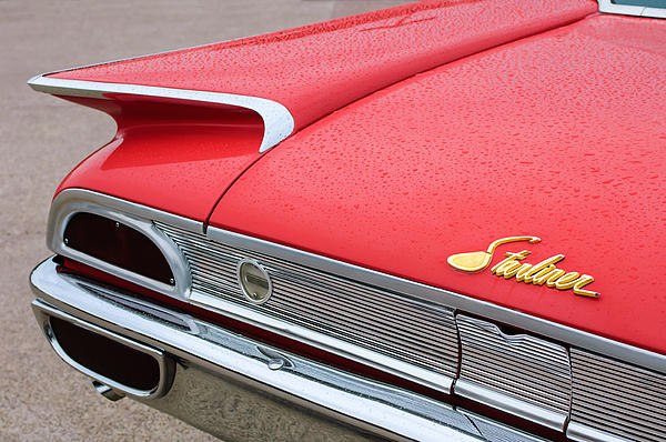 1960 Ford Galaxie Starliner Taillight Emblem Print by Jill Reger