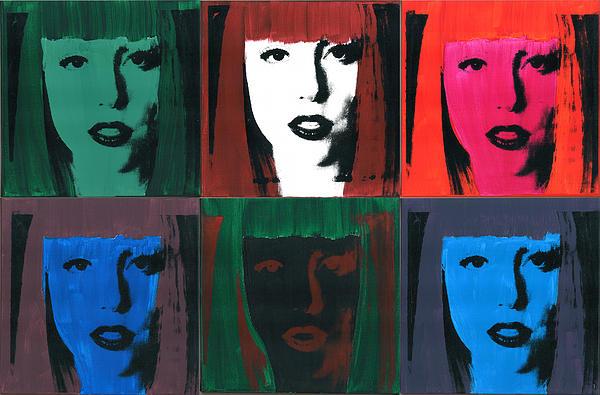 6 Artpop Aka Lady Gaga Print by David K Parker