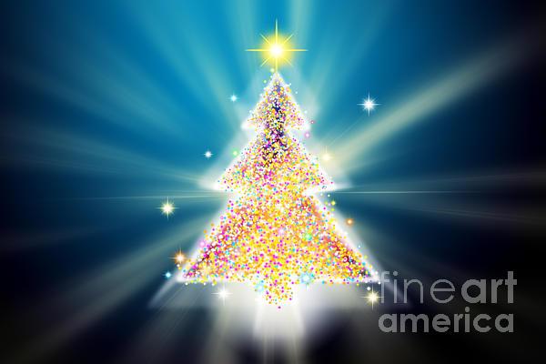 Christmas Tree Print by Atiketta Sangasaeng