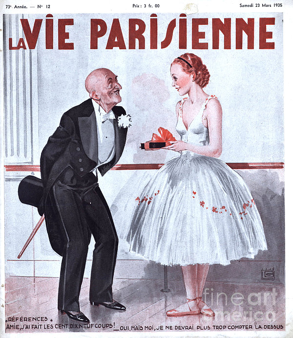 La Vie Parisienne 1935 1930s France Print by The Advertising Archives